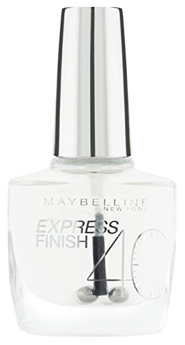 Maybelline New York Make-Up Nailpolish Express Finish Nagellack Durchsichtig / Ultra schnelltrocknender Farblack in Transparent, 1 x 10 ml