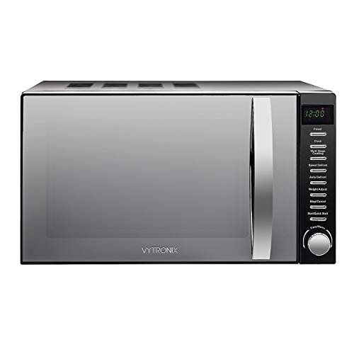 31GJtDdlvfL. SS500  - VYTRONIX VY-HMO800 Digital Microwave Oven 800W 20L 5 Power Levels Freestanding Solo Black