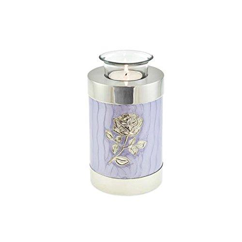 Cherished Urns Urna para Cenizas, diseño de Flores moradas con Rosas, cremación, urna de Recuerdo para Cenizas