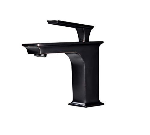 XHCP Quadratische Form Warm- und Kaltwasserhahn Badezimmer Einlochmontage Einhand Sitzen Typ Gesicht Becken Wasserhahn