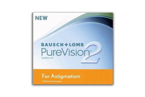 PureVision2 HD for Astigmatism Monatslinsen weich, 6 Stück/BC 8.90 mm/DIA 14.5/CYL -1.25/ACHSE 40/-04.5/Dioptrien