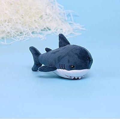 WYBL Simulación Lindo Tiburón Felpa Llavero Llavero Juguetes Soft Cartoon Ballena Relleno Muñeca Mochila Llavero Colgante Niños Regalos 15Cm de WYBL