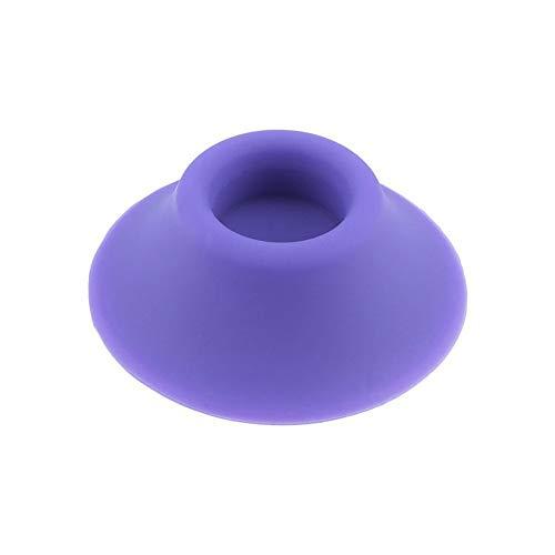 Colorful 2 Stück Ego Silikon Sucker Standfuß Halter für Vapour Tanks und Batterie Vaporizer Pens (Lila)