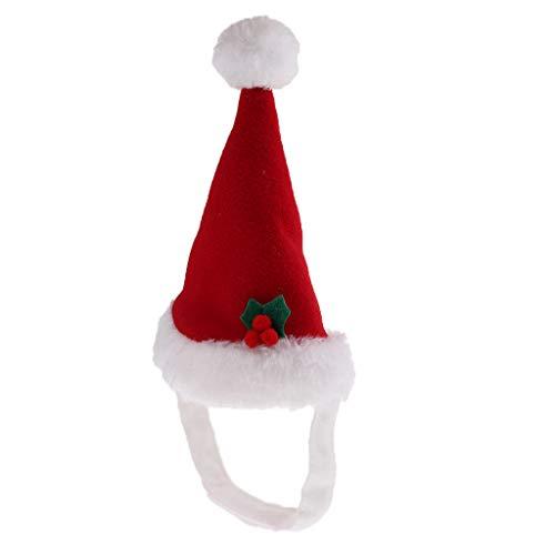 ze Nikolausmütze Weihnachtsmann Mütze Hut für Kleine Hunde und Katzen ()