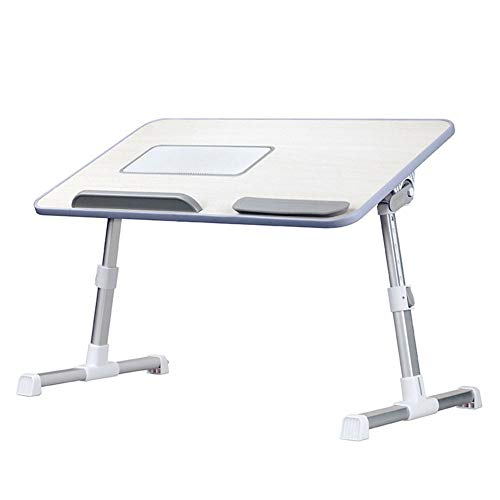 Syfinee Adjustable Laptop Table with Cooling Fan Portable Standing Bed Desk Foldable Sofa Breakfast Tray -