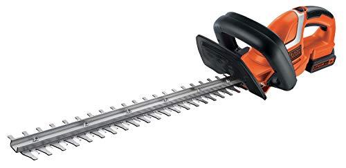 Black+Decker Akku Heckenschere (mit E-Drive Technologie zum Schneiden harter und dicker Äste sowie mittlerer bis großer Hecken - 18mm Schnittstärke - 18V - 2,6kg leicht) GTC1845L20