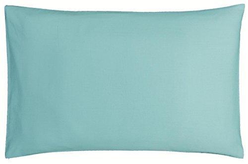 P'tit Basile - Taie d'oreiller bébé - dimensions 40x60 cm - Coloris Turquoise - Coton biologique de qualité supérieure, 57 fils/cm2, Tissage serré pour plus de douceur.
