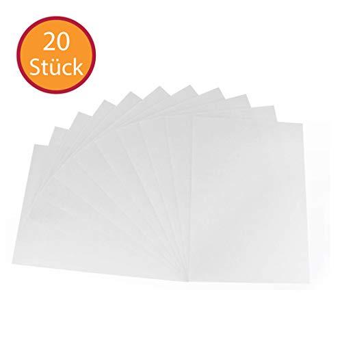 (YooKreativ Schrumpffolienplatten 20 Blatt SPARPACK❗ Blatt 20x30 cm, Matt Transparent, Schrumpffolie, Deko Folie, Schrumpf-Folien. PREISHIT )