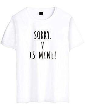SIMYJOY Lovers Bangtanboys Fans Maglietta Jimin V JUNG KOOK SUGA J-HOPE BTS Fans T-shirt KPOP Cool Top Per Uomo...