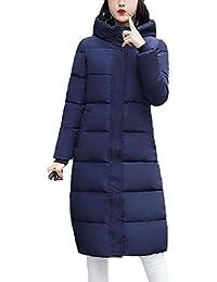 4871577c6 Mujer Abrigo Acolchado Largos Invierno Fashion Anchos Tallas Grandes Parka  Invierno Manga Larga Encapuchado Espesar Lindo