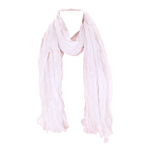 Leichter Damen Schal Nr. 374 viele Farben Weiß