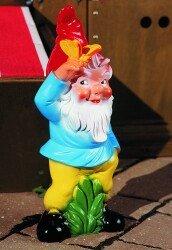 Zwerg mit Schmetterling 43 cm 92556 Kunststoff-Figur