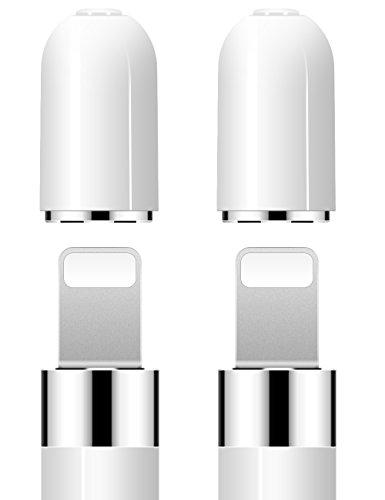 iMangoo Pencil Cap, 2 Stück iPencil Ersatz Magnetverschluss Verwenden Sie für Backup Schutzdeckel Schützen Sie Ladeport Weiß (Stift-ersatz)