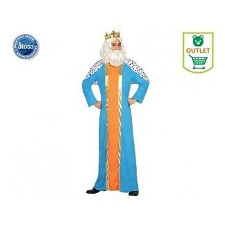 Atosa-30760 Disfraz Rey Mago Hombre Adulto-T, Color Azul, M-L (30760)