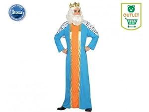 Atosa-31571 Atosa-31571-Disfraz Rey Mago Hombre Adulto-Talla Navidad, Color Azul, XS-S (31571)