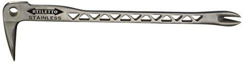Stiletto ssclw12-2Edelstahl Clawbar Nageleisen mit Dimpler, 30,5cm