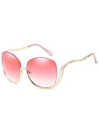 Shanyaid Fashion Half Frame übergroße Sonnenbrille, geschwungene Beine Sonnenbrille Vintage Frames Sonnenbrille übergroße transparente Damenbrille transparente Linse Mode Herren Sonnenbrille Half