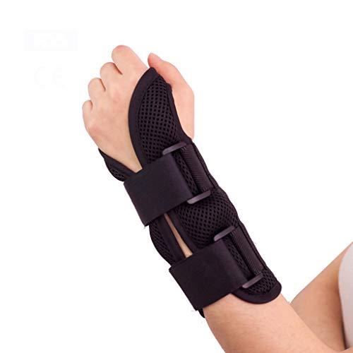 Handgelenkstütze, mit verstellbaren und starken Schienen, zur Linderung von Verletzungen und Schmerzen am Handgelenk, verstauchte Handstütze mit wiederverwendbarem Gel-Pack,S -
