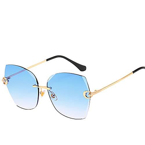 FYrainbow Framess Beschneidung Sonnenbrille, fahrende Sonnenbrille ist am besten für Angeln Golf Golf Outdoor-Reisemangel PC-Objektive UV400,E