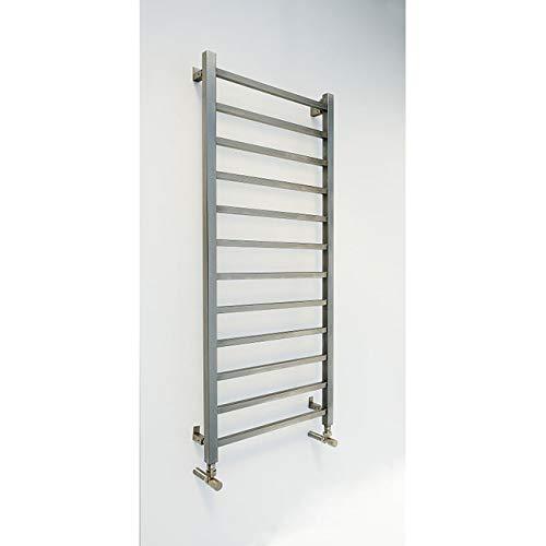 Edelstahl Flachpaneel Vertikal Designer Heizkörper Edelstahl Vierkantrohre, Silber -