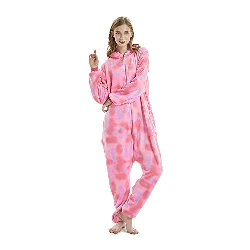(NN IKEA Karneval Halloween Pyjamas Schlafanzug Mit Kapuze Erwachsene Cosplay Kostüm Erwachsene Unisex,Pink,M)