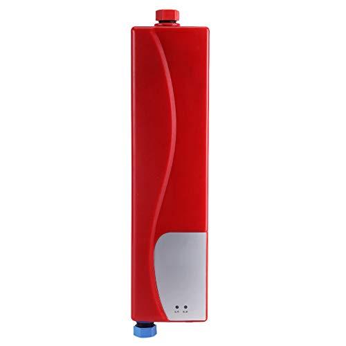 Preisvergleich Produktbild heißes Tankless-Warmwasserbereiter,  Sofortiger elektrischer Mini-Durchlauferhitzer-System für Küchen-Europäer-Stecker rot
