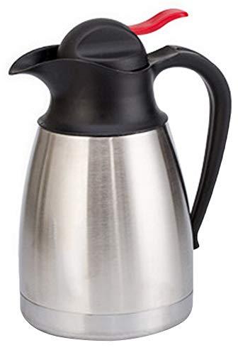 Isolierkanne 304 Edelstahl Thermoskannen 0,8L/1,2/1,5L Isolierte Kaffee Topf Kaffee Thermos Haushalt thermosflasche HEI und kalt dual Gebrauch Isolierung Topf für Saft Milch Tee Silber