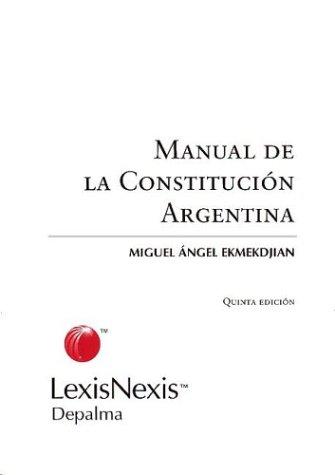 Manual de La Constitucion Argentina