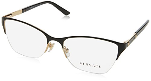 Versace Brillen Für Frau 1218 1342, Gold Metallgestell, 53mm