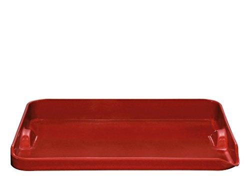 Emile Henry Eh347546 Plancha Barbecue Céramique Rouge Grand Cru 39 X 31 X 5,5 cm