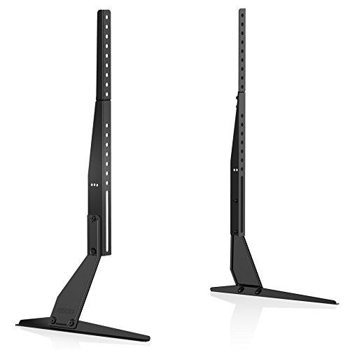 FITUEYES Tisch Universal TV Ständer Fernseher Standfuß Fernsehtisch TV Halterung für LED LCD 37 bis 60 Zoll höhenverstellbar neigbar TT06802MB