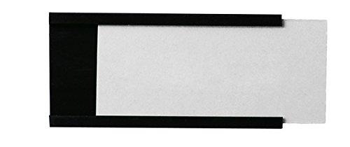 Legamaster 7-450600 Magnetische Etikettenträger für Whiteboards, 36 Stück, 30 x 60 mm, schwarz