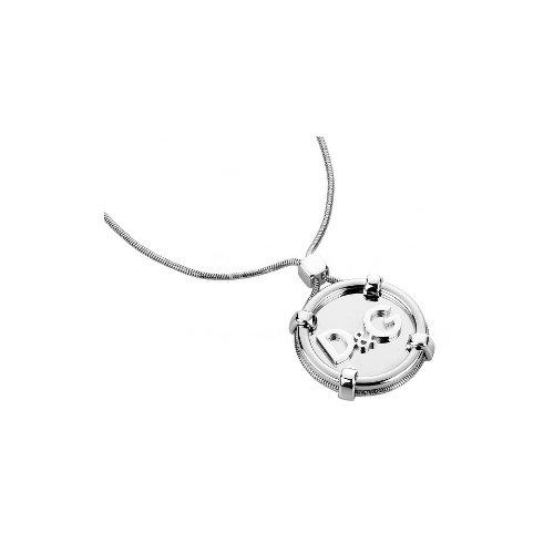 Dolce & gabbana dj1115–flex–collana donna–acciaio