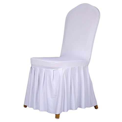 fasst die China für Hochzeiten Deko Party Stuhl Esszimmerstuhl abdeckt, Home Stuhl Abdeckung weiß ()