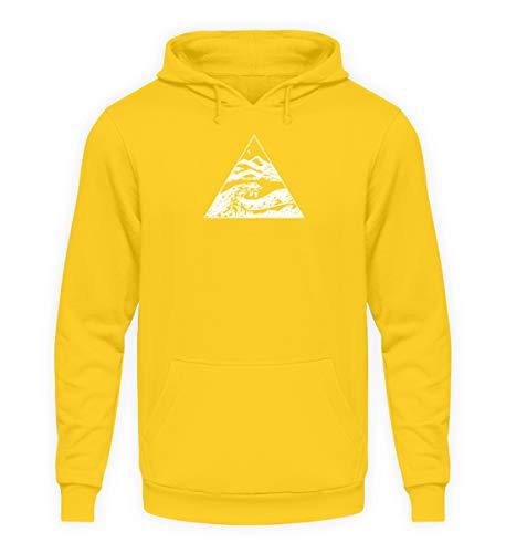 Die Welle vor Kanagawa - Kunst Cooles Shirt Malerei Bild Tsunami Japan Kunst Geographie - Unisex Kapuzenpullover Hoodie -XXL-Sonnengelb