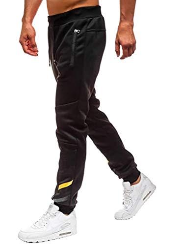 OranDesigne Jogginghose Herren Sporthose Lange Sweatpants Trainingshose Jogger Mode Hose Sommer Freizeit Hosen Schwarz XL