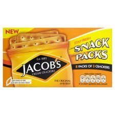 Jacob's Cream Crackers Snack Packs 8 Pack 192G (Cracker Snack-packs)