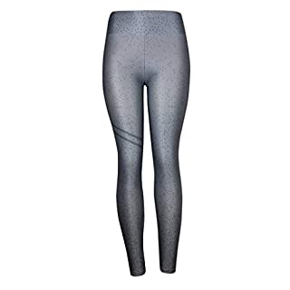 LOPILY Comfortable Flexible Blouse Women's Fashion Workout Leggings Fitness Sports Gym Running Yoga Athletic Pants Gray