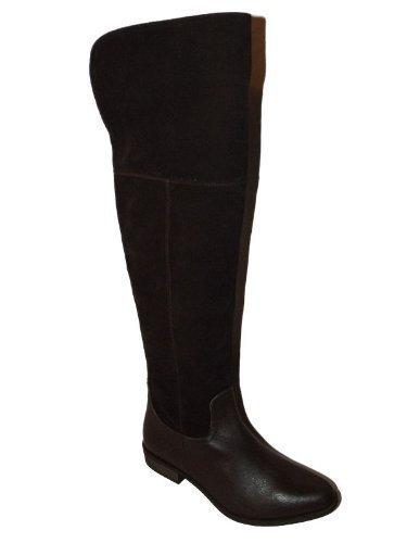 OCK BRAUNES LEDER WILDLEDER OVERKNEE HOCH SCHENKELHOCH PIRATEN STIEFEL - Schokolade, 37 (Wildleder Piraten Stiefel)