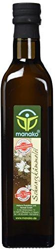 manako Schwarzkümmelöl human, kaltgepresst, 100% rein, 500 ml