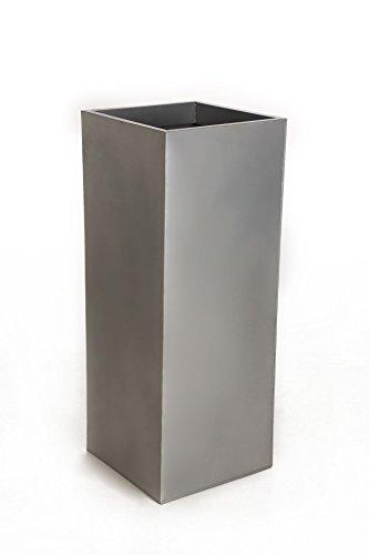 Vivanno Einzel Zink Blumenkübel Block 100 cm Silber inkl. Bewässerungssystem