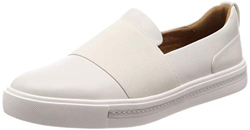 Clarks Un Maui Step, Mocasines Mujer, Blanco White