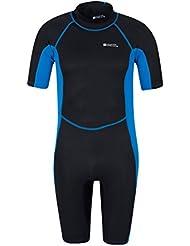 Mountain Warehouse Shorty Herren-Neoprenanzug Tauchanzug Wetsuit Schwimm Bade Surf Wasser Strand Wassersport Urlaub Tauchen Schnorcheln
