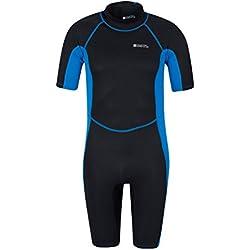Mountain Warehouse Combinaison de plongée Short pour Homme - Combinaison Confortable en néoprène - Convient aux Vacances d'été, plongée et Surf Bleu Cobalt Large/X-Large