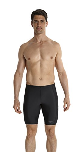 Speedo Sports Logo Jammer Bañador de Competición Largo, Negro (Black / Usa Charcoal), 36