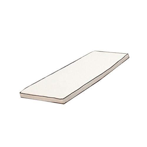 ZOUDIN Indoor Outdoor schaukel Bank Kissen Veranda Wicker Kissen Pad-Weiß 70x30cm(28x12inch)
