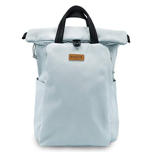 RANZN Rucksack, 40 cm, 13 L, Grau - Hochwertiger Damen & Herren Daypack aus Segeltuch - Vegan, Wasserabweisend, flexibel