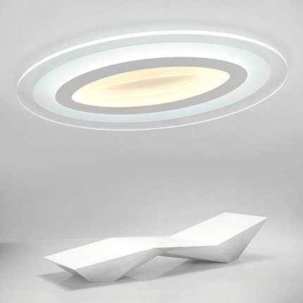KAI-Das Wohnzimmer Deckenleuchte mit warmen Schlafzimmer oval led Deckenleuchte keine Polarität dimmen?Oval 68 X 43CM / 56W