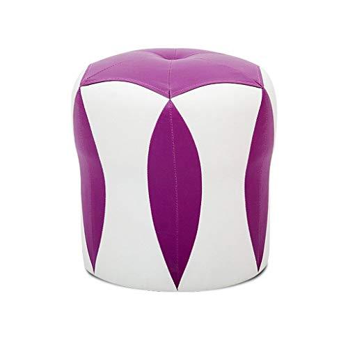 TTZ Kleiner Sitz Sofa Bank, Erwachsenen Schuh Bank Tragbare Hohe Elastische Schwamm Gefüllt PU Kleine Bank Kinderzimmer/Büro/Lounge (Color : Lila) -