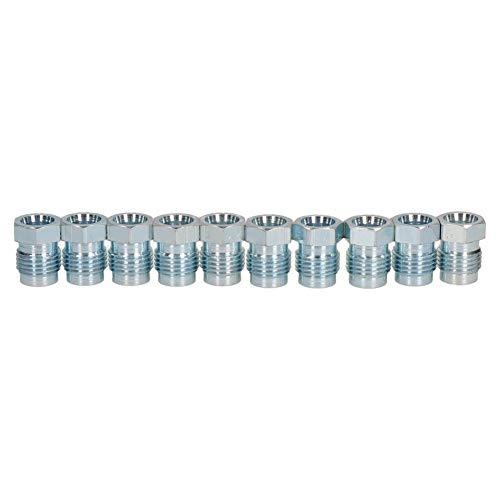 10 Stück Stahl-Bremsrohre mit kurzer Verbindungsstücke, 1/2 Zoll x 20 UNF für 5/16 Zoll Bremse